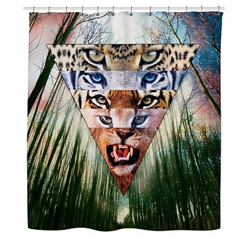 ROSC Wild Cats Shower Curtain