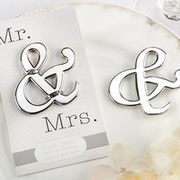 """Mr. & Mrs."" Ampersand Bottle Opener Wedding Favors"