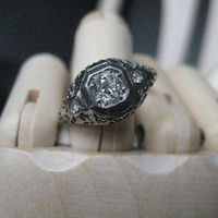 Vintage Diamond Engagement Ring by TheHubVintage on Etsy