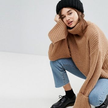 ASOS Jumper in Oversized with Deep Cuffs at asos.com
