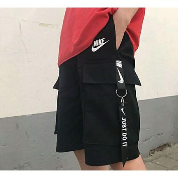 NIKE 2018 summer new couple models streamers tooling five pants F-AG-CLWM Black