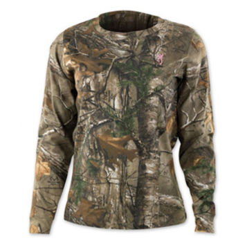 Browning Women's Wasatch Long Sleeve Camo T-Shirt for Her