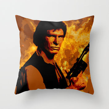 Star Wars * Han Solo * Movies Inspiration Throw Pillow by Freak Shop