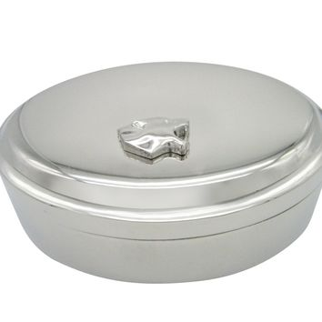 Puma Wild Cat Pendant Oval Trinket Jewelry Box