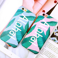 Summer Leaf iPhone 6 6s iPhone 6 6s Plus Case Originality Cover + Gift Box 417