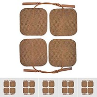 TENS Electrodes Re-usable 2x2 inch Pad Tan 40 Pack