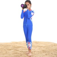 2018 Girls Sport Swimwear Long Sleeves High Quality Children Swimsuit Surfing Suit Baby Girl Sport Bathing Suit 7-14 Years Old