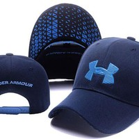 DCCKUNT Hot UnderArmour Embroidery Navy Blue Cotton Sport Baseball Cap Hat