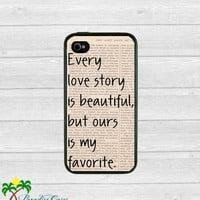 Love Story Iphone 4.4s Case by Paradise Cases