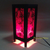 Table Lantern Lamp or Bedside Floor Bamboo pattern Asian Oriental Japanese Furniture For Home decorate #Lantern NT14