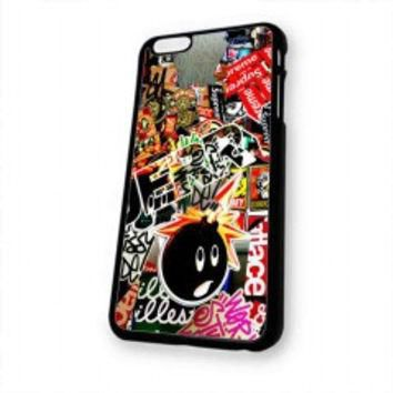 Sticker Bomb Supreme and illest for iphone 6 case