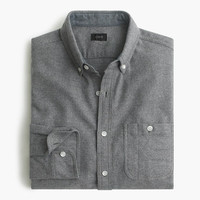 J.Crew Mens Slim Cotton-Wool Elbow-Patch Shirt In Solid