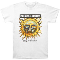 Sublime Men's  40oz To Freedom T-shirt White
