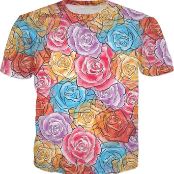 Watercolor Roses T-Shirt