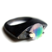 Quartz Doublet on Sterling Silver Ring