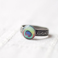 Peacock ring - Boho jewelry - christmasinjuly CIJ (R038)