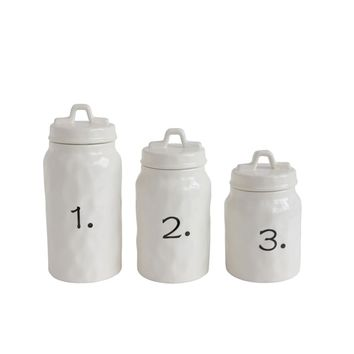 Ceramic Canisters Set of 3