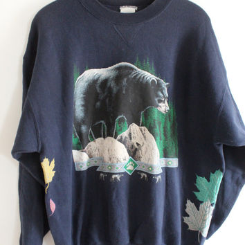 Black Bear Papa Forest Sweatshirt