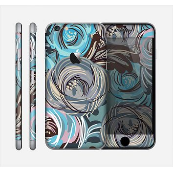 The Abstract Subtle Toned Floral Strokes Skin for the Apple iPhone 6