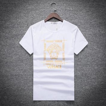 Versace Fashion Casual Shirt Top Tee-16