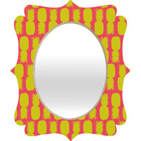 Allyson Johnson Neon Pineapples Quatrefoil Mirror