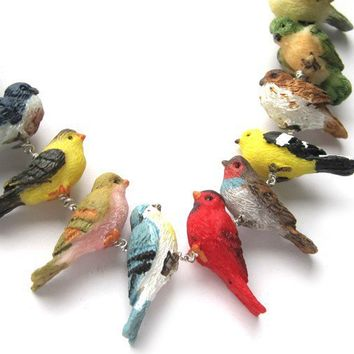 Birds of a Feather Necklace by sudlow on Etsy