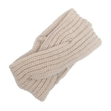 Fashion Women Headband Crochet Knitting Wool Solid Winter Warm Headbands For Women Ear Warmer Headwrap Hair Accessories LY