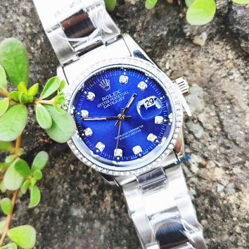Rolex Hot Sale Ladies Men Delicate Diamond Dial Watches Wrist Watch