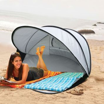Automatic Open 1-2 Person Good Quality Anti-UV Beach Tent Sun Shelter
