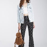 Daisy Print Bell Bottoms