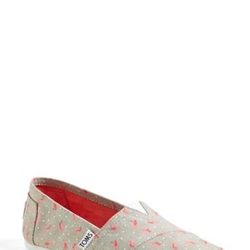 Women's TOMS 'Classic - Flamingo' Alpargata Slip-On