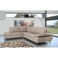 VIG Divani Casa Peony - Modern Leather Sectional Sofa In Grey