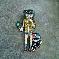Gorillaz Murdoc as The Lawyer Hunter S. Thompson Mashup HST Hatpin