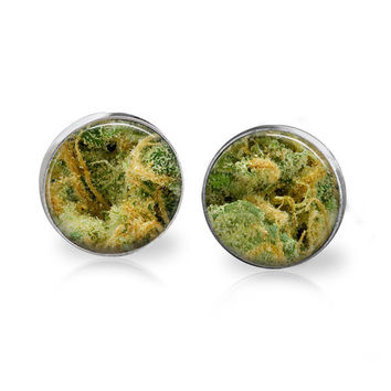 LEMON SKUNK Marijuana Weed Studs 420 Humor 420 Gift Men's Humor Men's Jewelry Men's Earrings Hipster Earrings Hippie Jewelry Hip Hop Fashion