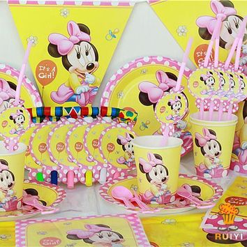 78pcs Kids BABY Minnie Mouse Birthday Party Decoration