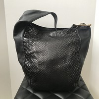 Gucci Black Python and Leather Greenwich Hobo Bag