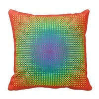 Hot Orange Rainbow Mosaic Checker Board Hippie