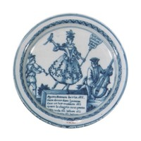 Marie Antoinette party Blue white willow delft Paper Plate