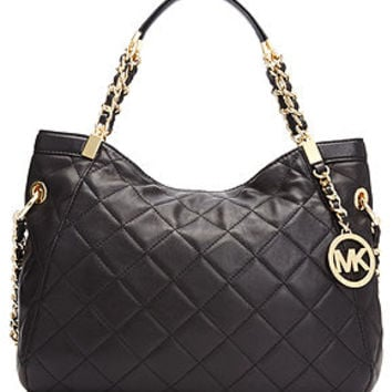 Michael Kors Handbag Susannah Medium Quilted Shoulder Tote Handbags Acces
