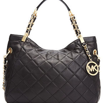 MICHAEL Michael Kors Handbag, Susannah Medium Quilted Shoulder Tote - Handbags & Accessories - Macy's
