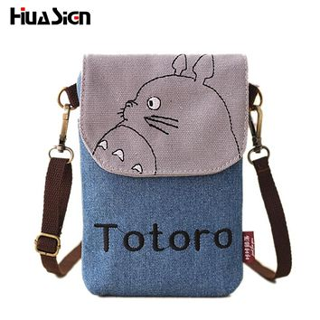 Huasign Hot Cartoon Bao Bao Totoro Crossbody Bag for Women Canvas Mini Shoulder Bags Female Clutch Purse And Handbags