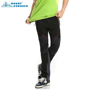 Men's Spring Summer Elastic Camping Trekking Fishing Thin Trousers Quick Dry Pants Outdoor Breathable Hiking Pants