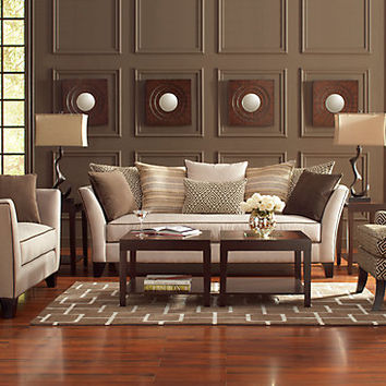 Sofia Vergara Santorini Beige 8Pc Classic Living Room.  Splashthecolorsoftheworld. Splashthecolorsoftheworld Ideas
