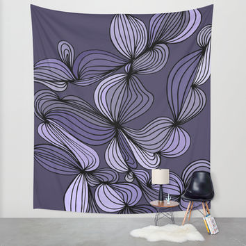 Vintage (purple) Wall Tapestry by DuckyB (Brandi)
