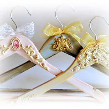 Bridal Hanger Wedding Hangers Bride Hanger Bridesmaid Gif  Wedding Dress Hanger Groom Hanger Maid of Honor Gift Bridal Shower Name Hangers