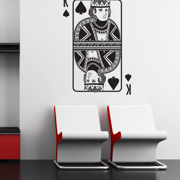 Vinyl Wall Decal Sticker King of Spades #OS_DC372