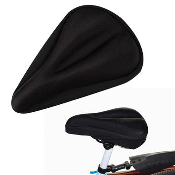 New Universal Gel Pad Soft Thick Seat Cushion Bicycle Saddle Cover Bike Cycling Cycle Bike Riding Sitting Protecter #2s06