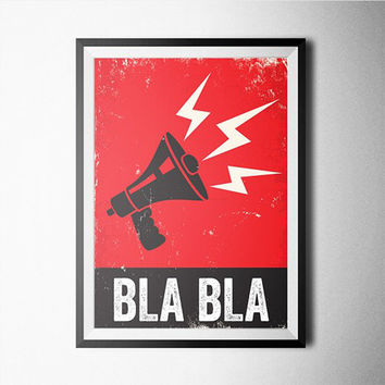 Bla Bla Word Art Poster