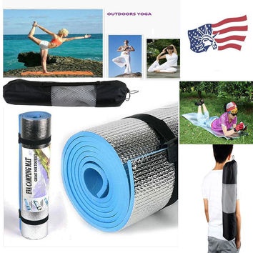 Premium Blue Thick Yoga & Pilates Mat + Bag