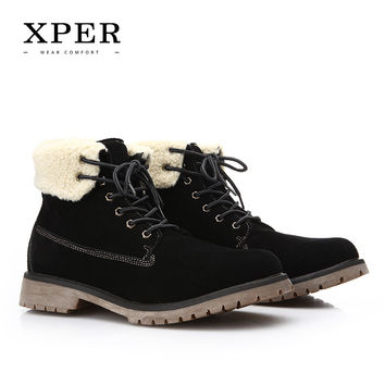 men Casual Shoes Lace-up Snow Casual Men Shoes